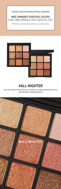 3CE - Multi Eye Color Palette #All Nighter - tienda online