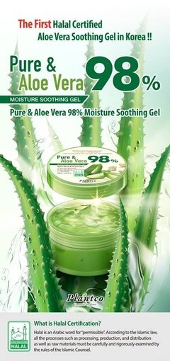 [PLANTCO] Pure & Aloe Vera 98% Moisture Soothing Gel - 300ml