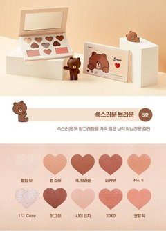 MISSHA (Line Friends Edition) Color Filter Shadow Palette Special Set - Shy Shy Brown - comprar online