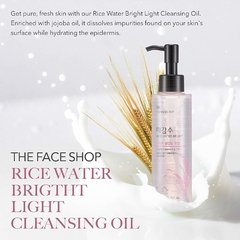 THE FACE SHOP - Rice Water Bright Light Cleansing Oil - 150ml - comprar online