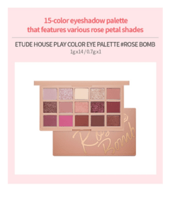 ETUDE HOUSE - PLAY COLOR EYE PALETTE - 14.7g - ROSE BOMB - comprar online