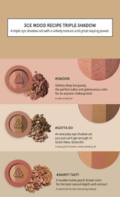 3CE - Mood Recipe Triple Shadow Swoon en internet