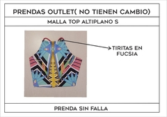 OUTLET- Malla top altiplano S -Afro Alfonsa