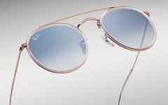 Ray Ban double bridge rb3647n 9068/3F bronce-transparente/Azul degrade en internet