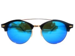 Ray Ban Clubround Double Bridge 4346 azul espejado  en internet