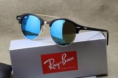 Ray Ban Clubround Double Bridge 4346 azul espejado  - comprar online