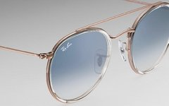 Ray Ban double bridge rb3647n 9068/3F bronce-transparente/Azul degrade - Starem