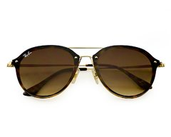 Ray Ban Round Blaze Double Bridge rb4292 710/13 carey/marrón degrade - comprar online