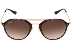 Ray Ban Round Blaze Double Bridge rb4292 710/13 carey/marrón degrade - Starem