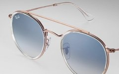 Ray Ban double bridge rb3647n 9068/3F bronce-transparente/Azul degrade - tienda online