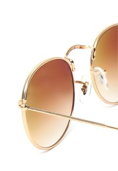 Ray Ban Round Metal rb3447 001/51 dorado/Marrón Degradé