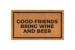 Modelo personalizado - good friends bring wine and beer