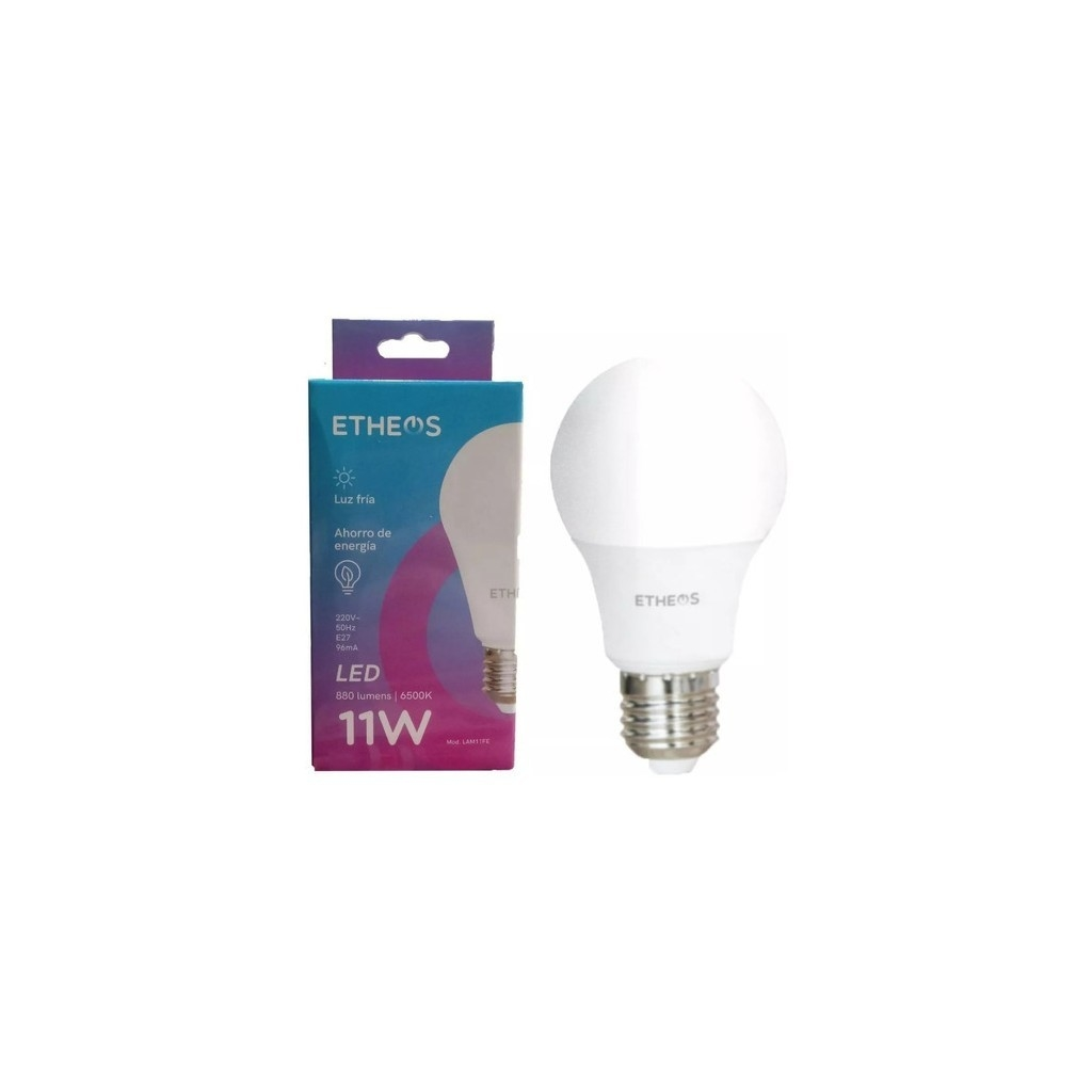 Pack x 10 Lampara Led 11w Fria