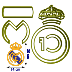 Cortante Real Madrid 20 cm