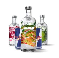 Absolut Saborizado + Red Bull x 4
