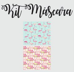 KIT TECIDO MASCARA FLAMINGO