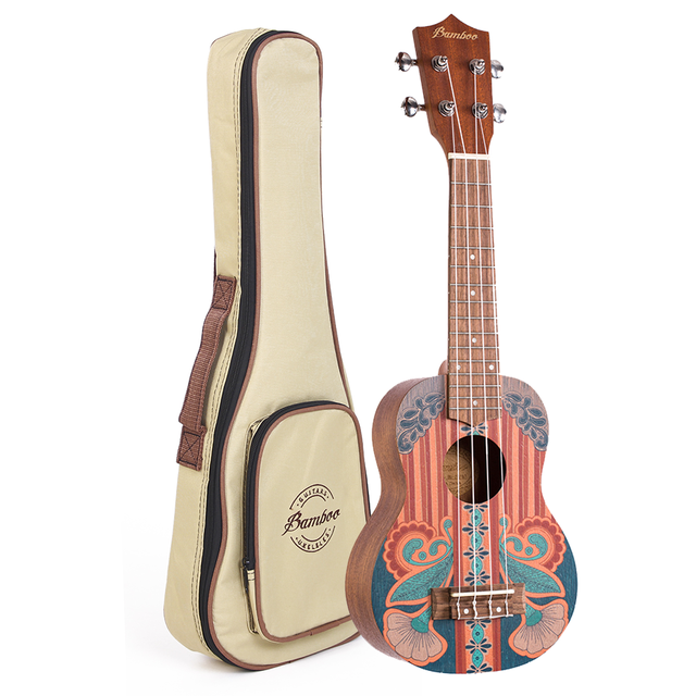"Sapele wood  soprano Ukulele ""Vintage"" (Includes bag) - buy online"