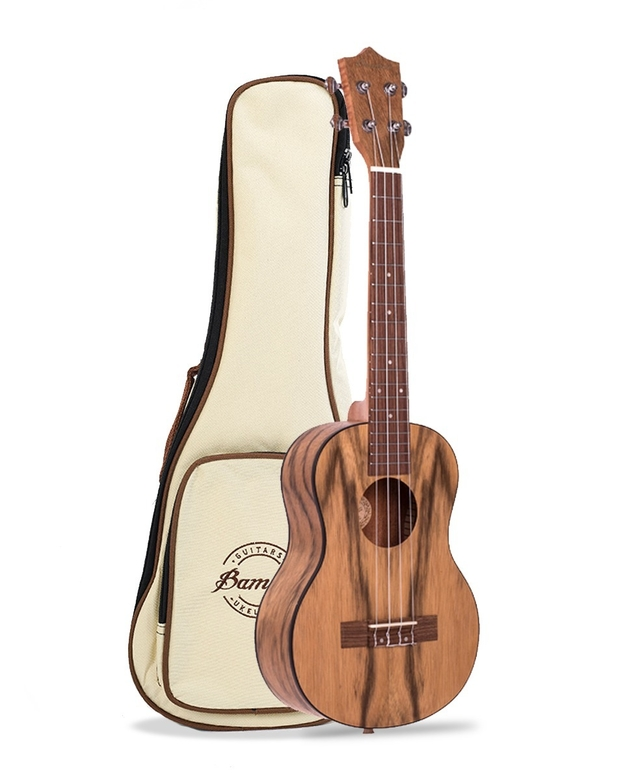 Walnut  wood Ukulele Tenor (Includes Gig bag) (BU-26WAL) - online store