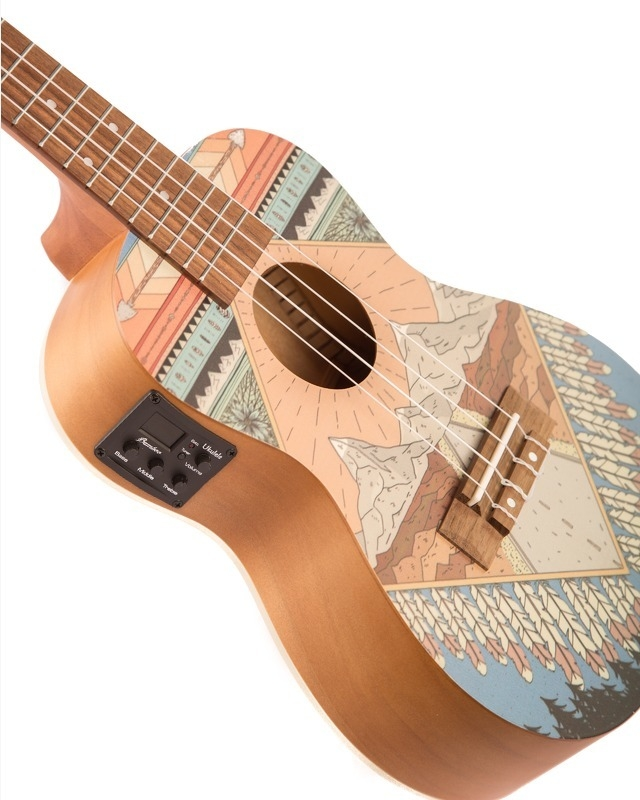 "Sapele wood Concert Ukulele ""Patagonia"" w/eq (Includes bag) - BAMBOO • Shop Online"