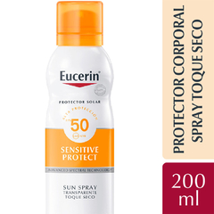 Eucerin Protector Solar Spray Corporal Toque Seco FPS 50 200ml