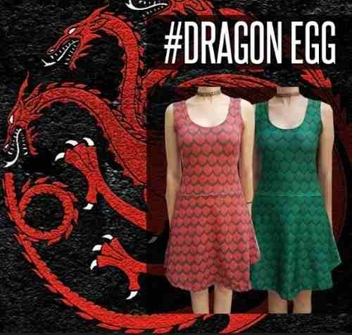Dress Dragon / Got / Red & Green / Creature / Geek / Egg - comprar online