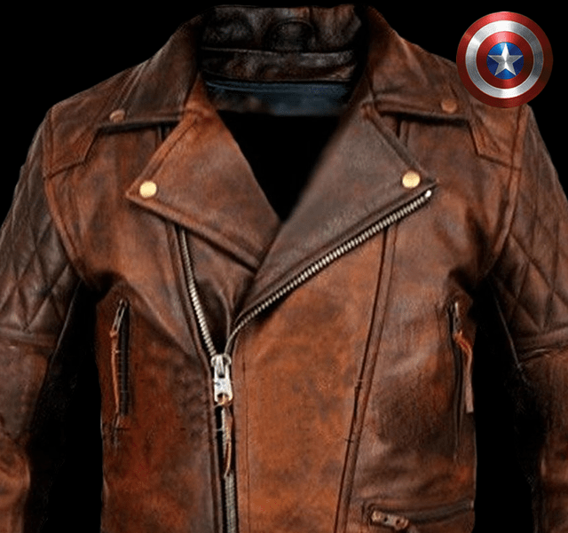 Campera de cuero Capitan America Winter Soldier