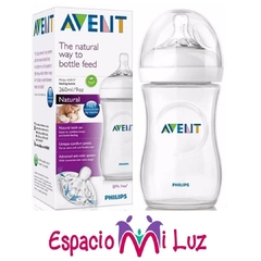 BIBERON AVENT NATURAL 260ML 1M+