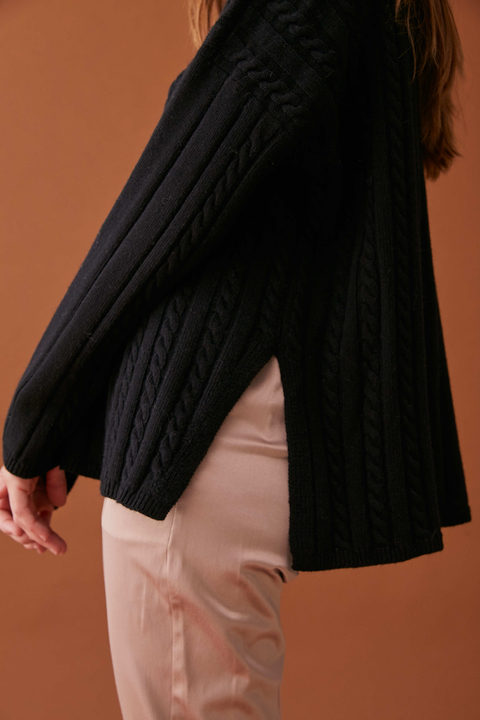 SWEATER BUNDI NEGRO