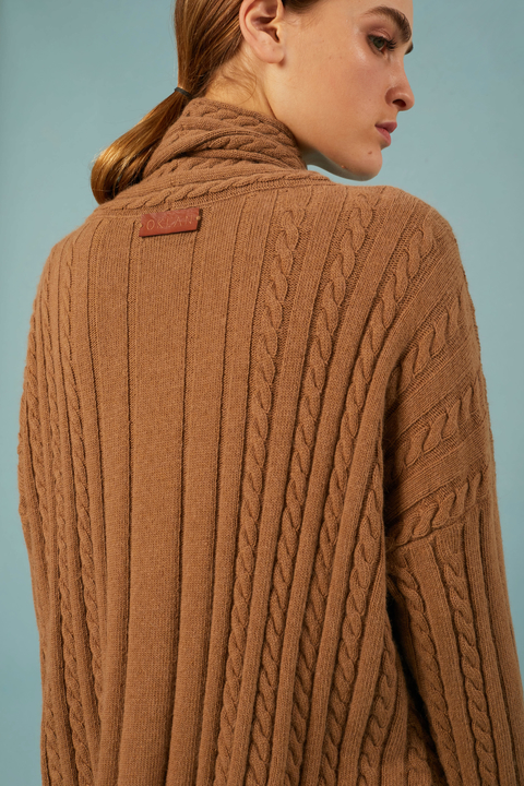 SWEATER BUNDI CAMEL