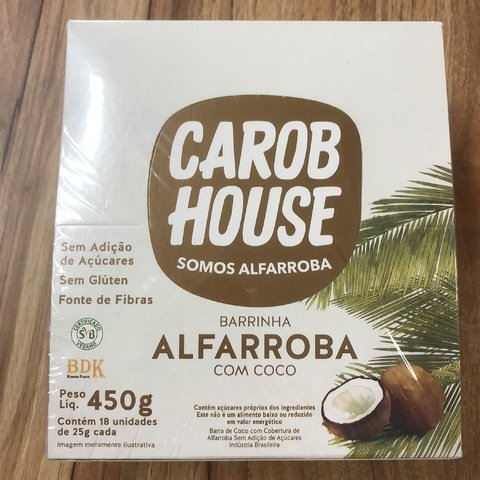 BARRINHA ALFARROBA C/ COCO 450G 18UNX25G (CAIXA/DISPLAY)