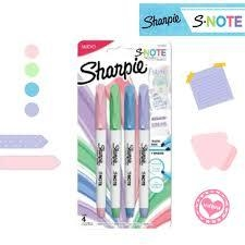 SET SHARPIE SNOTE X4 PASTEL