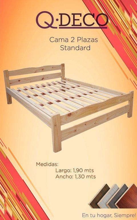 Cama 2 Plazas 1 30 X 1 90 Mts Comprar En Qdeco