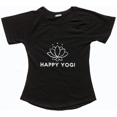 Remera HAPPY negra