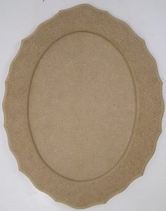 Moldura Oval Colonial 35x45cm Com Fundo MDF 9mm