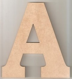 Letras 40cm Mdf 6mm Com Base - Pintado na internet
