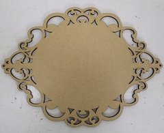 Placa Oval Princesa 31x44cm MDF 3mm