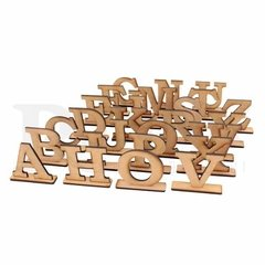 Letras Forma 50cm MDF 9mm Com Base