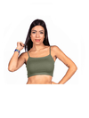 Cropped With Handle Olive Green
