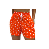 Shorts Orange Polka Dots Print