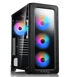 GABINETE GAMER SHEN LONG ONE 4 FAN RGB RAINBOW + CONTROLADOR