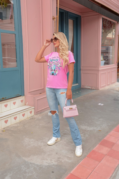 T-SHIRT YOU REALITY ROSA BEGÔNIA - buy online