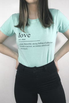 T-SHIRT LOVE ICE JADE