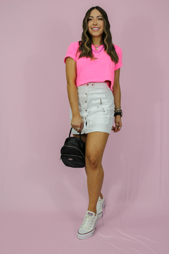 CROPPED ROSA NEON - comprar online