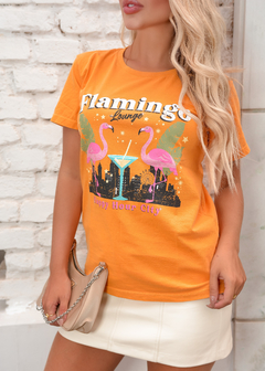 T-SHIRT FLAMINGO LOUNGE LARANJA MANGOLD - buy online