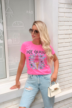 T-SHIRT ICE QUEEN ROSA NEON na internet