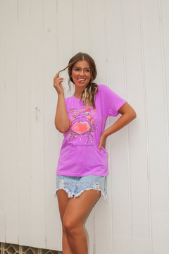 T-SHIRT ONLY ONE ROXO NEON