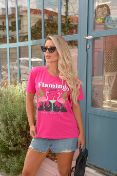 T-SHIRT FLAMINGO LOUNGE PINK