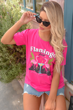 T-SHIRT FLAMINGO LOUNGE PINK en internet