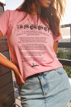 T-SHIRT DREAMER MOONLIGHT ROSE BLUSH - comprar online