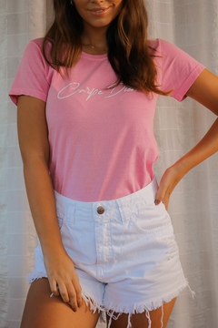 T-SHIRT CARPE DIEM ROSE BLUSH on internet
